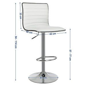 Tabouret de bar simili cuir